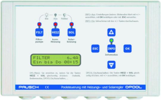 DPOOL Filtersteuerung mit Heizungs- und Solarsteuerung