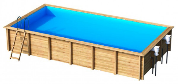 Innenhülle Rechteck 8 x 4 blau, H=146 cm