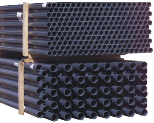 PVC Hart Rohr per lfm