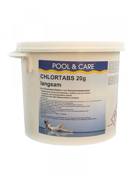 Chlortabs 20 g, langsamlöslich, Pool & Care