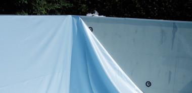 Innenhülle für Rechteckbecken, hellblau, 0,8 mm