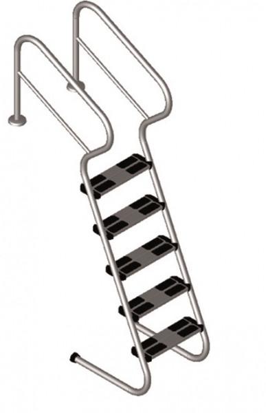 Treppenleiter aus Edelstahl