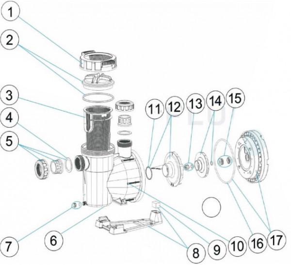 Laufrad F-1, 1,10 kW (Wechselstrompumpe)