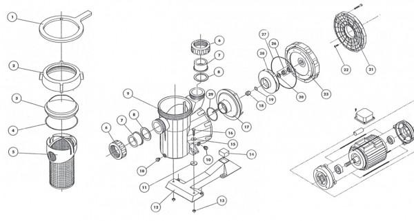 Laufrad 1,5 0 KW (Wechselstrompumpe)