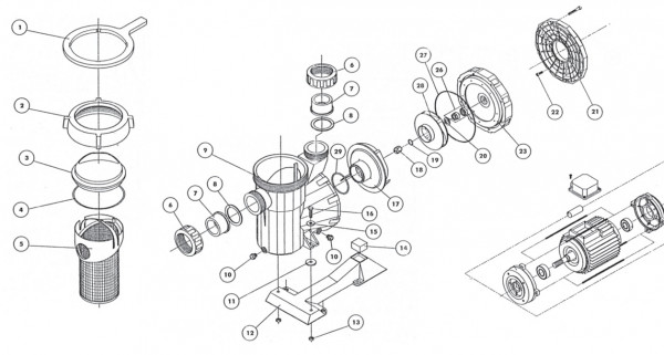 Laufrad 1,5 0 KW (Drehstrompumpe)