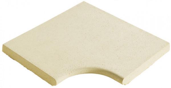 Eckplatte Kunststein Modern Sand