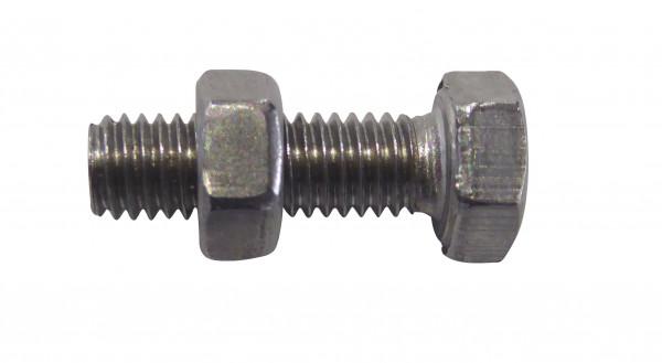Schraube mit Mutter V2A, M5 x 16 mm